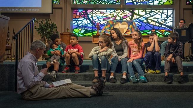 Photo from Children's Time during Worship
