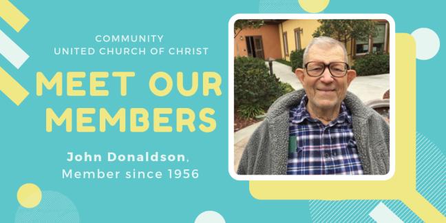 Meet Our Members - John Donaldson