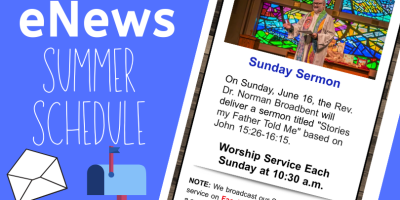 eNews summer schedule graphic