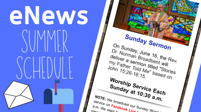 eNews summer schedule graphic